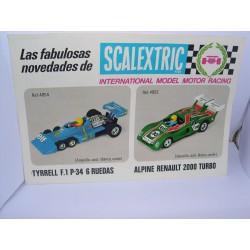 FOLLETO SCALEXTRIC AÑO 1982  2 PAGINAS