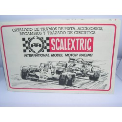 CATALOGO SCALEXTRIC EXIN DESPLEGABLE 1982