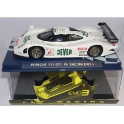 PORSCHE 911 GT1 EVO3 RACING JEVER BLANCO Nº6 FLY-113