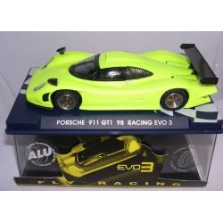 PORSCHE 911 GT1 98 RACING EVO3 AMARILLO FLY-102