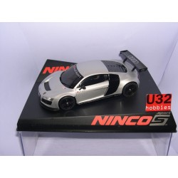 SLOT CAR AUDI R8 GT3 TEST CAR LIGHTENED SILVER