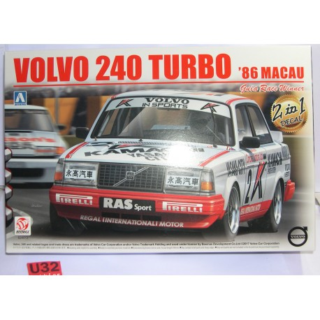 KIT 1/24 VOLVO 240 TURBO 1986 MACAU GUIA RACER WINNER