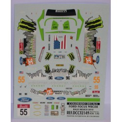 CALCA FORD FOCUS WRC MEXICO 2008 MONSTER  1/32