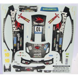 CALCA FORD FOCUS  WRC  FINLAND 2009 MAD-CROC Nº10 1/24